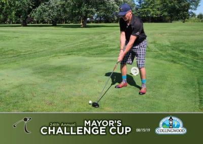 mayor tee off