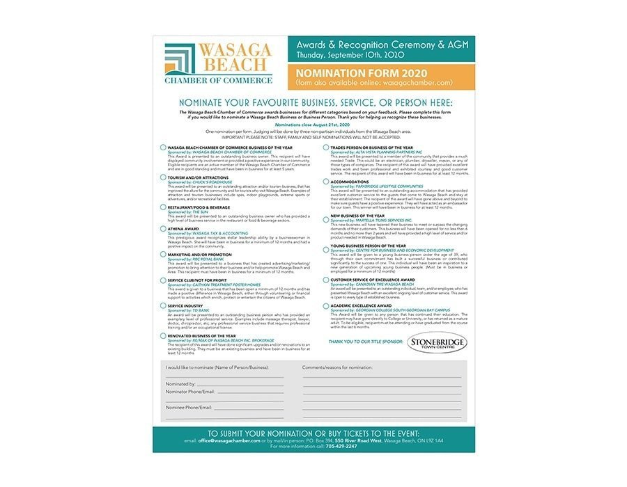 Chamber Nomination Forms